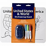 World/USA Dry Erase Lap Board