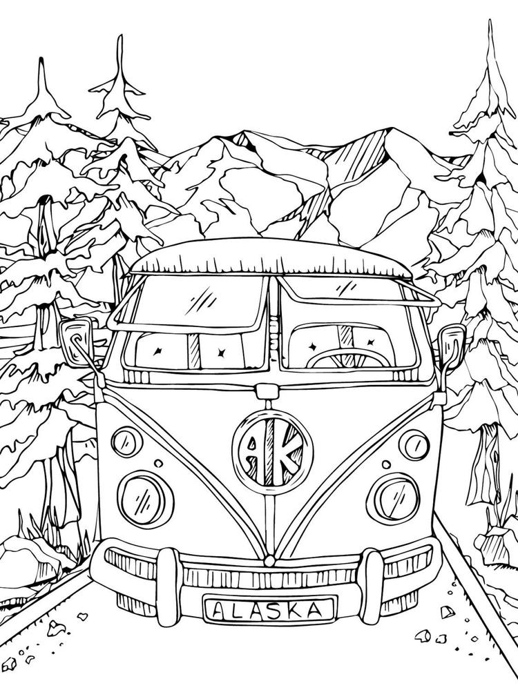 alaska coloring book pages - photo#16