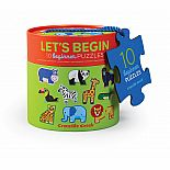 2pc Let's Begin Puzzles Jungle