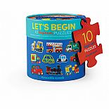 2pc Let's Begin Puzzles Vehicl