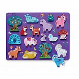 16pc Wood Puzzle Unicorn Garde