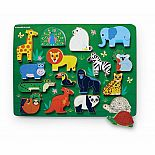 16pc Wood Puzzle Zoo